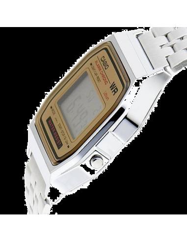 Chic Time | Montre Casio Vintage Homme A158WEA-9CF Affichage LCD Bracelet Argent  | Prix : 59,00€