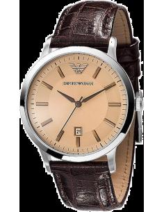 Chic Time | Montre Homme Emporio Armani Classic AR2428 bracelet en cuir brun  | Prix : 215,00€