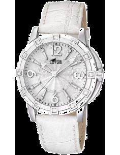 Chic Time | Montre Femme Lotus L15745/1 Bracelet en cuir coloris blanc  | Prix : 119,00€