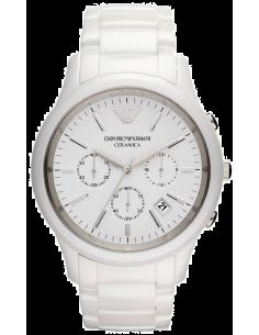 Chic Time | Montre Homme Armani Ceramica AR1453 Blanc  | Prix : 233,35€