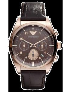 Chic Time | Montre Homme Emporio Armani New Retro AR0371 Bracelet cuir  | Prix : 319,20€