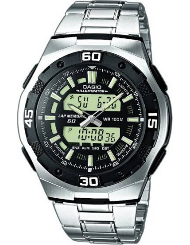 Chic Time | Montre Homme Casio Active Dial AQ-164WD-1AVES  | Prix : 67,99€
