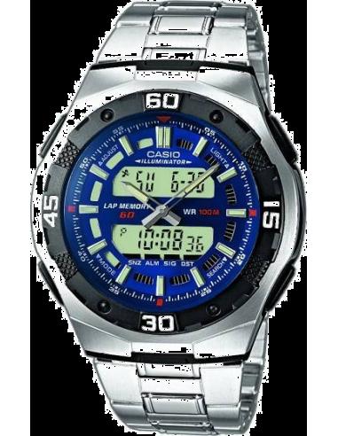 Chic Time   Montre Homme Casio Active Dial AQ-164WD-2AVEF    Prix : 71,10€