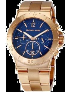 Chic Time | Montre Femme Michael Kors MK5410 Fond bleu cadran et bracelet couleur or rose  | Prix : 254,15€