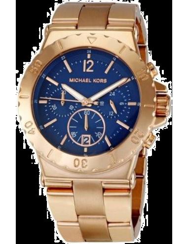 Chic Time   Montre Femme Michael Kors MK5410 Fond bleu cadran et bracelet couleur or rose    Prix : 279,00€
