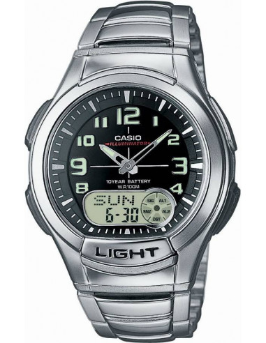 Chic Time | Montre Homme Casio AQ-180WD-1B Argent  | Prix : 49,90€