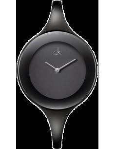 Chic Time | Montre modèle femme - Calvin Klein - Montre Femme Calvin Klein K2823602 Ck Mirror noir Large  - Prix : 255,90 €