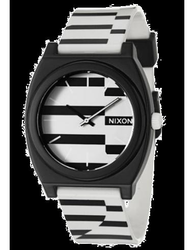 Chic Time | Montre Homme Nixon A119615-00 The Time teller noire et blanche  | Prix : 54,90€