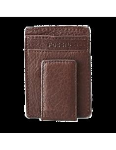 Chic Time | Pochette multicarte marron FOSSIL magnétique  | Prix : 14,50€
