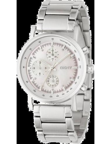 Chic Time | Montre Femme DKNY NY4331 Chrono rond bracelet argent  | Prix : 137,40€