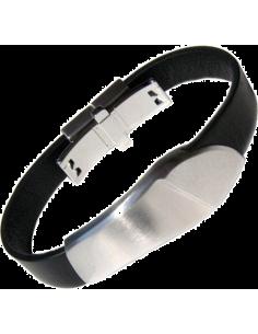 Chic Time   Bracelet Acier et Cuir Breil Tribe TJ0481    Prix : 15,87€