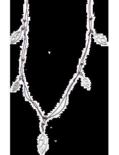 Chic Time | Collier Femme Evergreen Breil Tribe TJ0593 Ficelle violette ornée de feuilles  | Prix : 14,64€