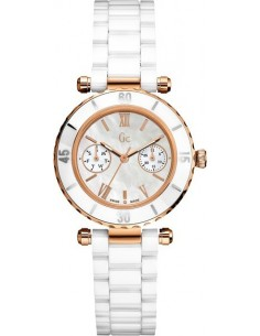 Chic Time | Montre Femme Guess Collection GC I42004L1 Montre En Céramique Blanche  | Prix : 423,90 €