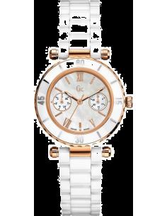 Chic Time | Montre Femme Guess Collection GC I42004L1 Montre En Céramique Blanche  | Prix : 249,90€