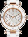 Chic Time | Montre Femme Guess Collection GC I42004L1 Montre En Céramique Blanche  | Prix : 423,90€