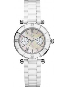 Chic Time | Montre Femme Guess Collection I35003L1 Ceramique Blanche  | Prix : 530,99 €