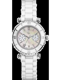 Chic Time | Montre Femme Guess Collection I35003L1 Ceramique Blanche  | Prix : 450,99€