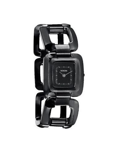 Chic Time | Montre Femme Nixon Sisi SS A285-001 Bracelet à maillons noirs et carrés  | Prix : 112,90€