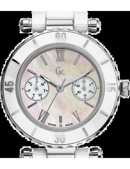 Chic Time | Montre Femme Guess Collection I35003L1 Ceramique Blanche  | Prix : 405,30€
