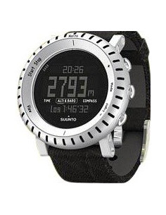 Chic Time | Montre Homme Suunto SS014280010 Core Alu Black Leather Negative Watch  | Prix : 419,00€