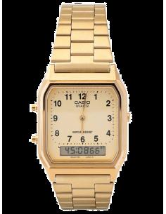 Chic Time | Montre Homme Mixte Dorée Casio Vintage AQ-230GA-9BMQ  | Prix : 34,50€