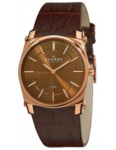 Chic Time | Montre Homme Skagen 859LRLD Bracelet cuir brun  | Prix : 74,50€