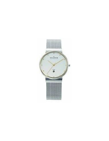 Chic Time   Montre Homme Skagen Slimline 355LGSC cadran rond et bracelet mailles acier    Prix : 119,00€