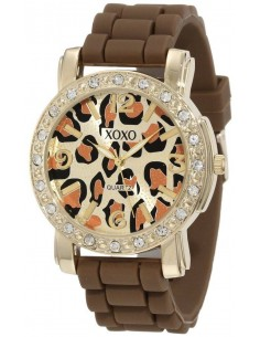 Chic Time   Montre Femme XOXO XO8057 Marron Cadran avec motifs    Prix : 29,90€