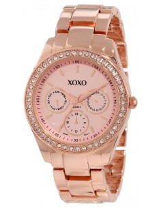 Chic Time | Montre Femme XOXO Rhinestones Accent XO5502 Bracelet Or Rose  | Prix : 54,90€