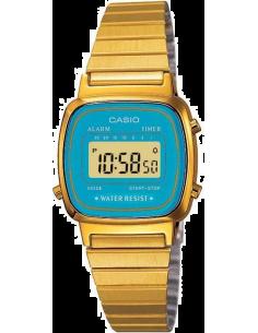 Chic Time | Montre Femme Casio Vintage LA670WEGA-2EF Turquoise & Or  | Prix : 40,00€