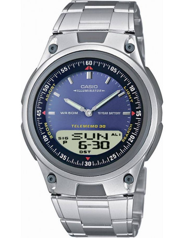 Chic Time   Montre Homme Casio Data Bank AW-80D-2AVDF Argent    Prix : 40,50€