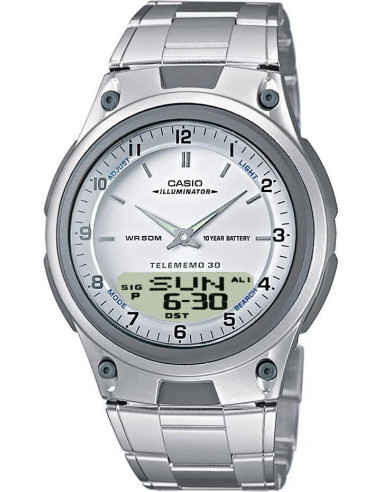 Chic Time | Montre Homme Casio AW-80D-7AVES Argent  | Prix : 43,00€