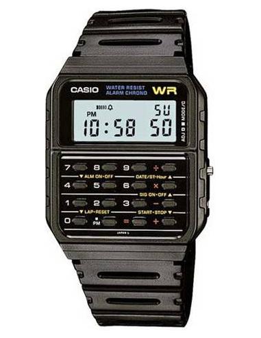 Chic Time | Montre Casio Collection CA-53W-1ZD Noir  | Prix : 39,00€
