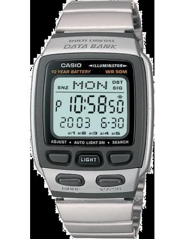 Chic Time   Montre Homme Casio Data Bank DB-37HD-7AVDF Bracelet Argenté En Acier Inoxydable    Prix : 42,90€