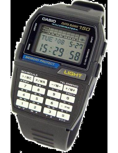 Chic Time | Montre Casio Data Bank Calculatrice DBC-150B-1QD  | Prix : 59,90€