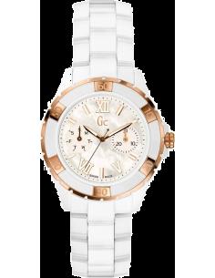 Chic Time | Montre Femme Gc Sport Class X69003L1S Blanche avec détails or rose  | Prix : 300,00€