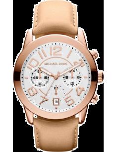 Chic Time | Montre Femme Michael Kors MK2283 Mercer Cuir & Or Rose  | Prix : 194,65€