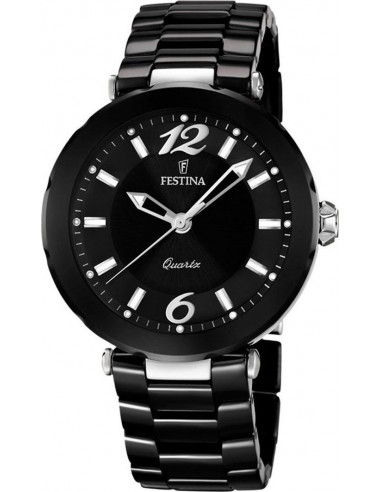 Chic Time | Montre Femme Festina F16640/2 Bracelet Céramique Noir  | Prix : 179,00€