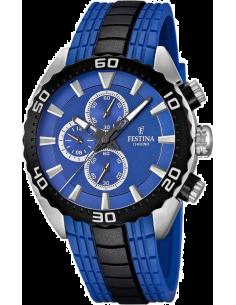 Chic Time | Montre Homme Festina La Vuelta F16664/6 Chrono Silicone Bleue  | Prix : 149,00€