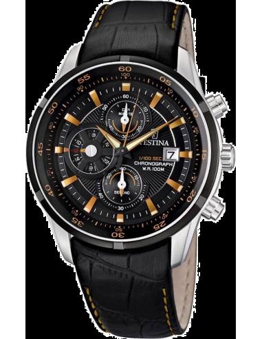 Chic Time | Montre Homme Festina F6821/4 Bracelet Cuir Noir  | Prix : 179,00€