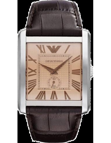 Chic Time | Montre Homme Emporio Armani Classic Marco AR1641 Bracelet Cuir Marron  | Prix : 199,00€