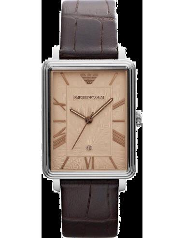 Chic Time | Montre Homme Emporio Armani Classic Collection AR1661 Bracelet Cuir Marron  | Prix : 209,00€