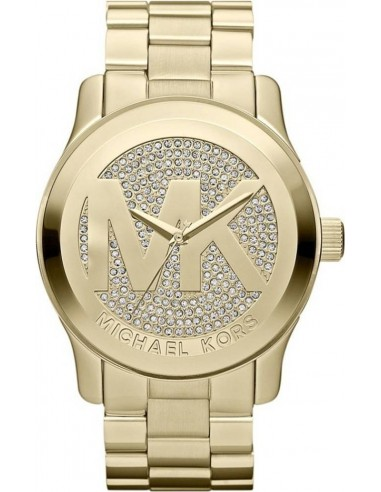 Chic Time | Montre Femme Michael Kors Runway MK5706 Or et Strass  | Prix : 207,20 €