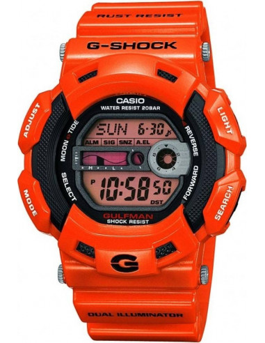 Chic Time | Montre Homme Casio G-Shock G-9100R-4ER Bracelet Résine Orange  | Prix : 99,90€
