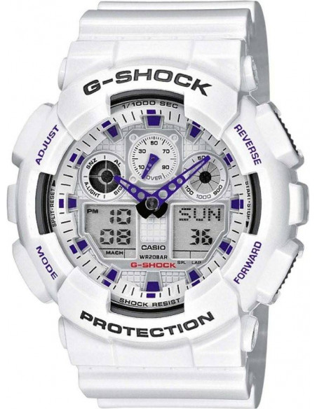 Chic Time | Montre Homme Casio G-Shock GA-100A-7AER  | Prix : 72,99 €