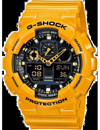 Chic Time | Montre Homme Casio G-Shock GA-100A-9AER Jaune  | Prix : 159,00€