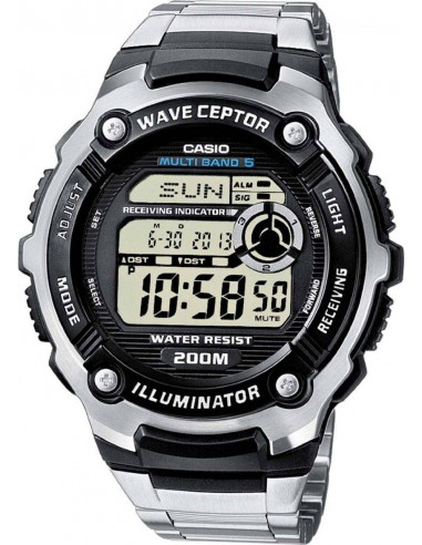 Chic Time | Montre Homme Casio WV-200DE-1AVER Radio Controlled Wave Ceptor Tough Solar  | Prix : 58,00€