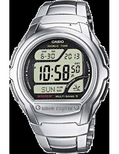 Chic Time | Montre Homme Casio Waveceptor WV-58DE-1AVEF Argent  | Prix : 54,39€