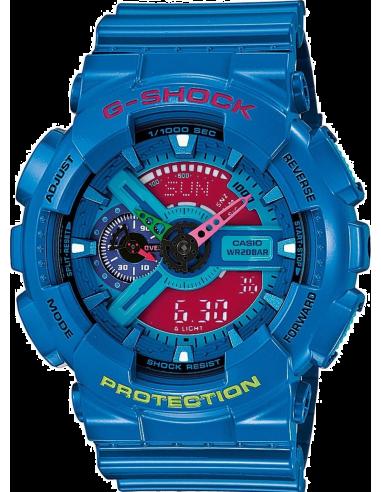Chic Time | Montre Homme Casio G-Shock GA-110HC-2AER Bracelet Résine Bleu  | Prix : 104,00€