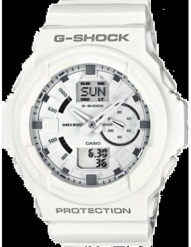 Chic Time | Montre Homme Casio G-Shock GA-150-7AER Bracelet Résine Blanc  | Prix : 107,10€